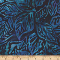 Kaufman Artisan Batiks Aviva Midnight Leaves