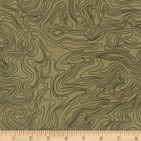 Kaufman Collection CF Wood Grain Ripple Brown