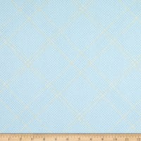 Kaufman Collection CF Metallic Grid Lines Dusty Blue
