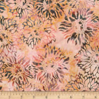 Kaufman Artisan Batiks Inspired by Nature Sunflowers Terracotta