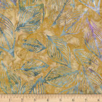 Kaufman Artisan Batiks Inspired by Nature Leaves Gold