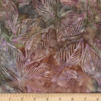 Kaufman Artisan Batiks Inspired by Nature Leaves Vintage