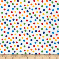 Kaufman Dot and Stripe Delights Small Dot Rainbow