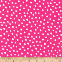 Kaufman Dot and Stripe Delights Small Dot Bright Pink
