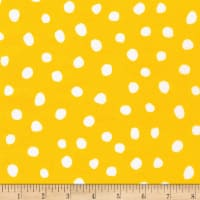 Kaufman Dot and Stripe Delights Large Dot Yellow