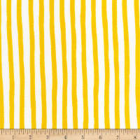 Kaufman Dot and Stripe Delights Stripes Yellow