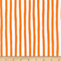 Kaufman Dot and Stripe Delights Stripes Orange
