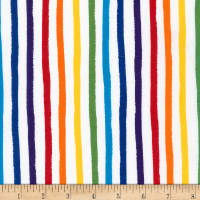 Kaufman Dot and Stripe Delights Stripes Rainbow