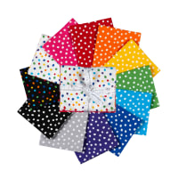 Kaufman Fat Quarter Bundles Dot and Stripe Delights Small Dots 12pcs