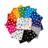 Kaufman Fat Quarter Bundles Dot and Stripe Delights Large Dots 12pcs