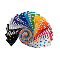 Kaufman Roll Ups Dot and Stripe Delights Multi 40pcs
