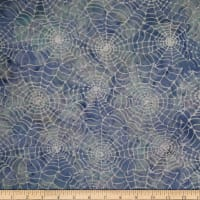 Batik By Mirah Blue Whisper Salvia Web Prints
