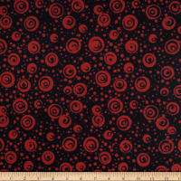 Batik By Mirah Holiday Emberglow Circles