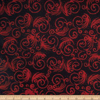 Batik By Mirah Holiday Emberglow Swirls