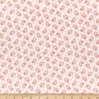 Henry Glass Flannel A Peaceful Garden Paisley Blush
