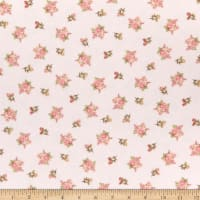 Henry Glass Flannel A Peaceful Garden Small Floral Blush