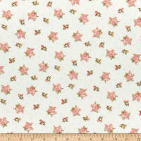 Henry Glass Flannel A Peaceful Garden Small Floral Cream