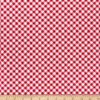 Henry Glass Best Friends Farm Gingham Check Red