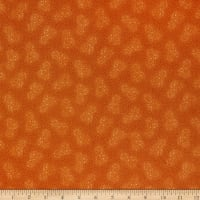 Henry Glass Esther's Heirloom Shirtings Double Daisies Orange
