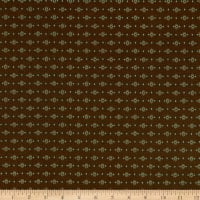 Henry Glass Esther's Heirloom Shirtings Dotted Diamonds Brown