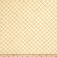 "Henry Glass 108"" Spiced Quilt Back Bias Ticking Plaid Light Tan"