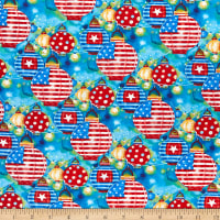 Henry Glass Star Spangled Summer Lanterns Red White Blue