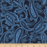 Kaufman Chesterfield Paisley Navy