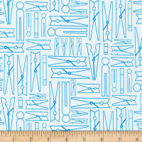 Kaufman on the Lighter Side 2 Clothes Pins Blue