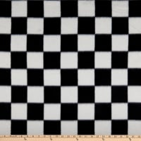 Polar Fleece Racing Check Black/White