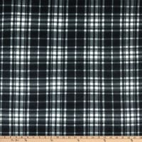 Polar Fleece Charles Plaid Black/White