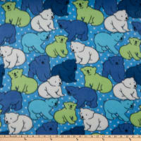 Polar Fleece Polka Dot Bear Blue