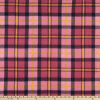 Polar Fleece Chris Plaid Fuchsia