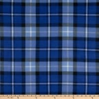 Polar Fleece Chris Plaid Royal