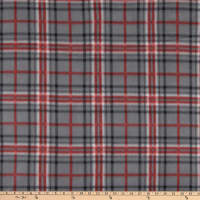 Polar Fleece Charles Plaid Grey