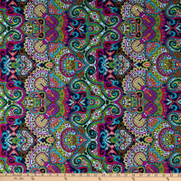 Fabric Merchants Swimwear Nylon Spandex Boho Multi
