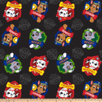 "Paw Patrol Marshall Rocky Chase Heavenly Plush Fleece 60"" Black"