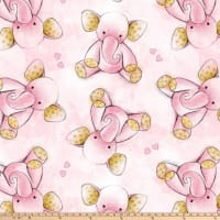 "Sleepytime Elephant Antipill Fleece 60"" Pink"