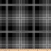 "Tartan Plaid Antipill Fleece 60"" Black/Grey"