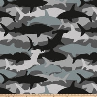 "Shark Camo Blizzard Fleece 60"" Grey"