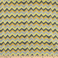 "Stylized Chevron Blizzard Fleece 60"" Yellow"