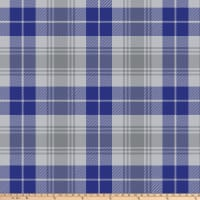 "Tartan Plaid Blizzard Fleece 60"" Blue/Grey"