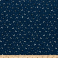 Mood In Blue Spring Of Flowers Navy