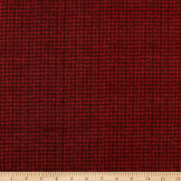 Maywood Studio Woolies Flannel Houndstooth Dark Red