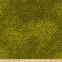 Maywood Studio Woolies Flannel Polka Dots Green