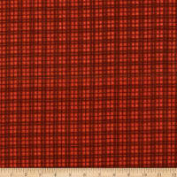Maywood Studio Woolies Flannel Plaid Red Orange