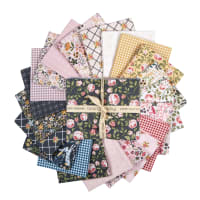 Poppie Cotton Gingham Farmhouse Fat Quarter Bundle 21pcs