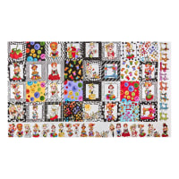 "Loralie Designs Digital Sew Curious Medley 24"" Panel Multi"