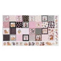 "Loralie Designs Digital Fancy Cats Medley 24"" Panel Multi"