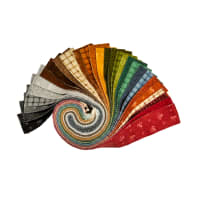 "Maywood Studio Heritage Woolies Flannel 2.5"" Strips Multi 40 pcs"