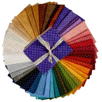 Maywood Studio Precut Beautiful Basics Classic Dot Fat Quarter Bundle (46pcs) Multi